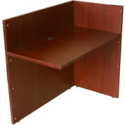 "Boss Reception Desk Return Shell - 42"" - Mahogany"