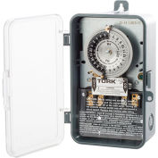 NSI TORK® 1101B-PC 24 Hour Time Switch, 40A, 120V, SPST Indoor/Outdoor Clear Cover Plastic Encl