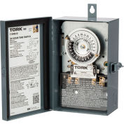 NSI TORK® 1103B-O 24 Hour Time Switch, 40A, 120V, DPST, Indoor/Outdoor Metal Enclosure
