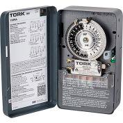 NSI TORK® 1109A 24 Hour Time Switch, 40A, 120-277V, DPST, NEMA 1 Metal Indoor Enclosure