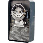 NSI TORK® 1104B 24-Hour Mechanical Timer Switch, 208-277V, 40A, NEMA 1 Enclosure, Grey