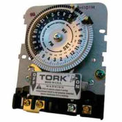 NSI TORK® 1104BM-IAP24 Hour Time Switch, 40A, 208-277V, DPST, Mechanism with Adapter Installed