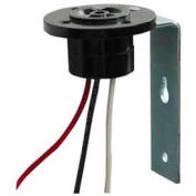 """NSI TORK® 2224 TurnLock Receptacle with Bracket, 120-480V, 15A Max, 12"""" Leads, 14 Ga Wire"""