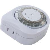 Minuterie mécanique NSI Tork® 401D 24 hr., 125Vac, 15 a, polarisé