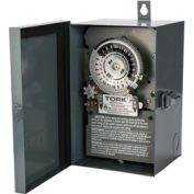 NSI TORK® 7302 24 Hour Skip A Day Time Switch, 40A, 208-277V 3PST Indoor/Outdoor Metal Enclosure