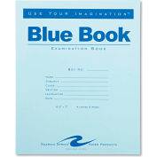 "Roaring Spring® Exam Blue Book 77510, 8-1/2"" x 7"", White, 4 Sheets/8 Sheets"