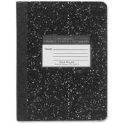 "Roaring Spring® Hard Cover Comp Book, 7-1/2"" x 9-3/4"", Wide Ruled, Black Marble, 100 Sheets/Pad"
