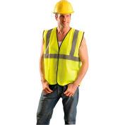 OccuNomix Class 2 Solid Vest Hi-Vis Yellow S/M, ECO-G-YS/M