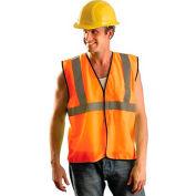 OccuNomix Value Mesh Standard Vest, Class 2, Hi-Vis Orange, L/ XL, ECO-GC-OL/XL