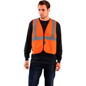 OccuNomix Value Flame Resistant Non-ANSI Solid Vest, Orange, 2XL/3XL