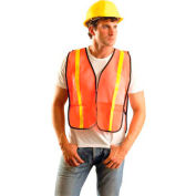 Value Mesh Gloss Vest, Non-ANSI, Hi-Vis Orange, Regular