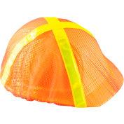 High Visibility Regular Brim Hard Hat Cover, Hi-Viz Orange, 12 Pack - Pkg Qty 12