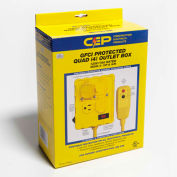 CEP 1460G6, GFCI Protected Quad Outlet Box