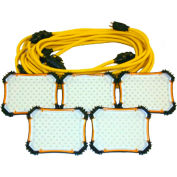 CEP 97135, 50' 18/2 SJTW LED String Light, 5 lights