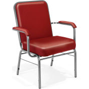 OFM Comfort Class Series Big and Tall Stacking Arm Chair, Anti-Microbial/Anti-Bacterial Vinyl, Wine
