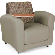 OFM InterPlay Series Single Seat Tablet Chair, Taupe Seat with Plum Back and Bronze Tablet