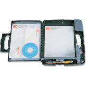 """Officemate® Portable Storage Clipboard Case, 11-3/4"""" x 1-1/2"""" x 14-1/2"""", Charcoal"""