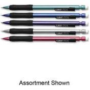 Bic® Matic Grip Mechanical Pencil, Rubber Grip, Non-Refillable, 0.7mm, Assorted, Dozen