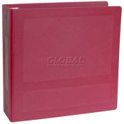 "Omnimed® 1"" Antimicrobial Binder, 3-Ring, Side Open, Holds 250 Sheets, Burgundy"