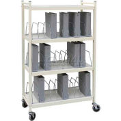 Omnimed® Standard Vertical Open Chart Rack, 30 Binder Capacity, Light Gray