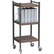 Omnimed® Mini Vertical Open Chart Rack, 10 Binder Capacity, Woodgrain