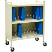 Omnimed® Standard Vertical Cabinet Chart Rack, 20 Binder Capacity, Beige
