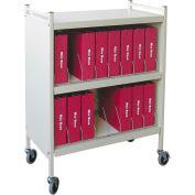 Omnimed® Standard Vertical Cabinet Chart Rack, 16 Binder Capacity, Beige