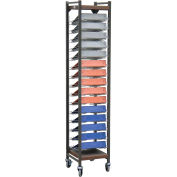 Omnimed® Tall Horizontal Open Chart Rack, 15 Binder Capacity, Beige