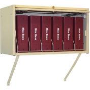 Omnimed® Wall Mounting Brackets For Cubbie File Rack, Beige, 2/PK