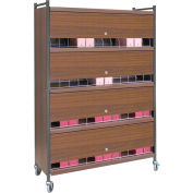 Omnimed® Large Vertical Cabinet Chart Rack with Locking Panel, 48 Binder Capacity, Beige