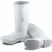 "Dunlop Men's Boot, 14"" White Plain Toe W/Safety Lock, PVC, Size 10"