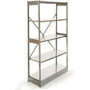 "Excalibur Stockroom Shelving, AM7124896, 48""W X 12""D X 96""H, Galvanized/Galvanized, 7-Shelf-Add On"