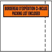 "Packing Slip Envelopes - English/French - 4"" x 5"" - Case of 1000"