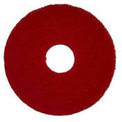 "Bissell Commercial 12"" Polish Pad Red, 5 Pads 437.055-c"