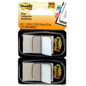 "Post-it® Flags, 1"" Wide, White, 50 Flags/Dispenser, 2 Dispensers/Pack"