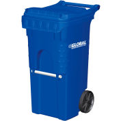 Otto Mobile Trash Container, 35 Gallon Blue - 3954444F-BS8