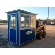 Stand de tuteur; 4'x 6' garde Booth - Blue - modèle de l'économie, pré-assemblé
