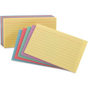"Oxford® Rule Index Cards 35810, 5"" x 8"", Assorted, 100/Pack"