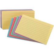 """Oxford® règle fiches 35810, 5 """"x 8"""", assortiment, 100/Pack"""