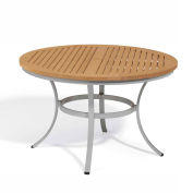 "Oxford Garden® Travira 48"" Round Dining Table, Tekwood Natural"