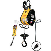 OZ Lifting Wireless Electric Builders Hoist, 53 FPM, 600 Lbs.