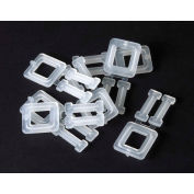 "1/2"" Plastic Buckles PLB-4A White for 1/2"" Polypropylene Strapping, 1000 Pack"