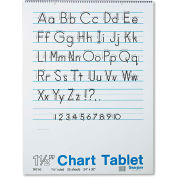 "Pacon® Chart Tablets w/Manuscript Cvr 74710, 24"" x 32"", White, 25 Sheets/Pack"