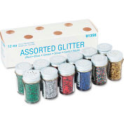 Pacon® Spectra® Glitter Assortment, 3/4 oz., 6 Colors, 12 Jars/Pack