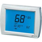 PECO PerformancePRO Thermostat, Programmable, 3H/2C, 24 VAC or Batt Power, 12 Inch Screen
