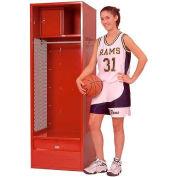 Penco 6KFD33-722 Stadium® Locker With Shelf Security Box & Footlocker 24x24x72 Red Unassembled