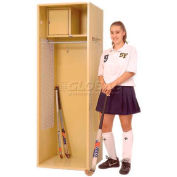 """Penco 6WFD31-021 Stadium® Locker With Shelf & Security Box,24""""Wx24""""Dx76""""H, Gray Ash, All Welded"""