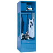 Penco 6WFD43-722 Stadium® Locker With Shelf Security Box & Footlocker 33x18x76 Red All Welded
