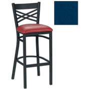 "Criss-Cross Back Bar Stool 17-1/2""W X 17""D X 41""H - Slate Blue - Pkg Qty 2"