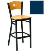 """Tabouret de Bar de cercle-dos naturelles 17-1/2"""" W X 17 «D X 42» H - bleu ardoise, qté par paquet : 2"""